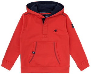 Childrens Boatyard Button Up Hood - Spicy Red