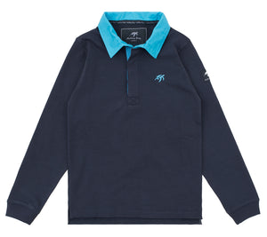 Childrens Mullins Club Rugby Shirt Harbour Blue