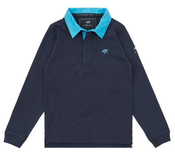 Childrens Mullins Club Rugby Shirt - Harbour Blue
