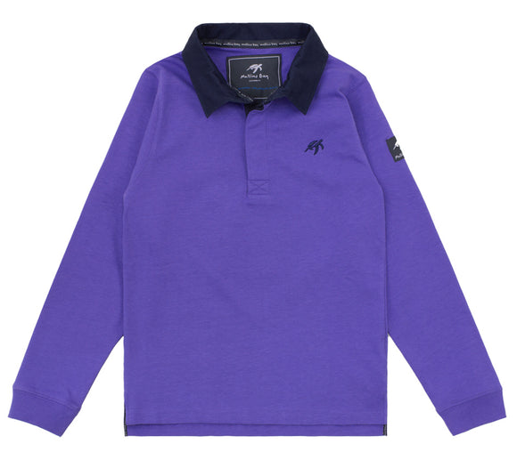 Childrens Mullins Club Rugby Shirt - Indigo Haze