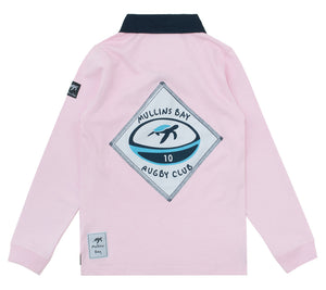 Childrens Mullins Club Rugby Shirt - Ice Pink