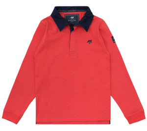 Childrens Mullins Club Rugby Shirt Spicy Red
