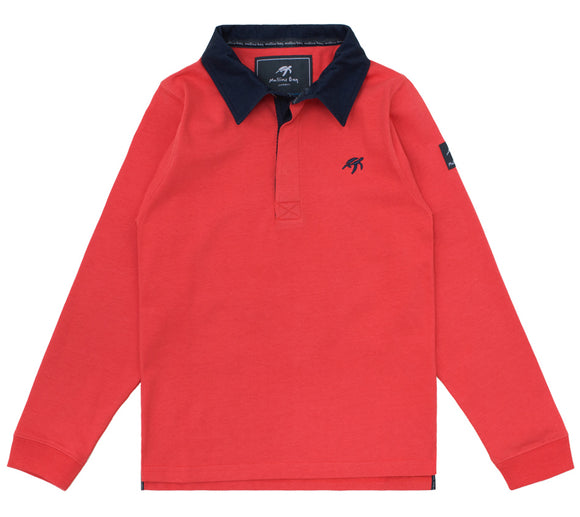 Childrens Mullins Club Rugby Shirt - Spicy Red