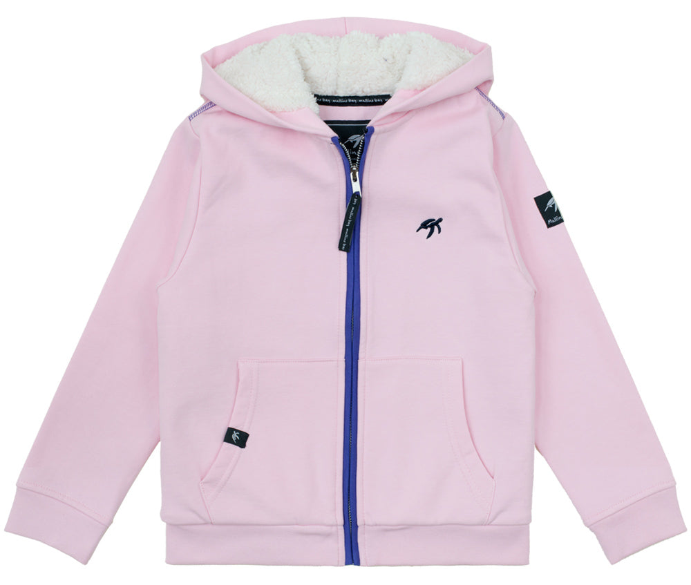 Childrens Boatyard Full Zip Hood Ice Pink