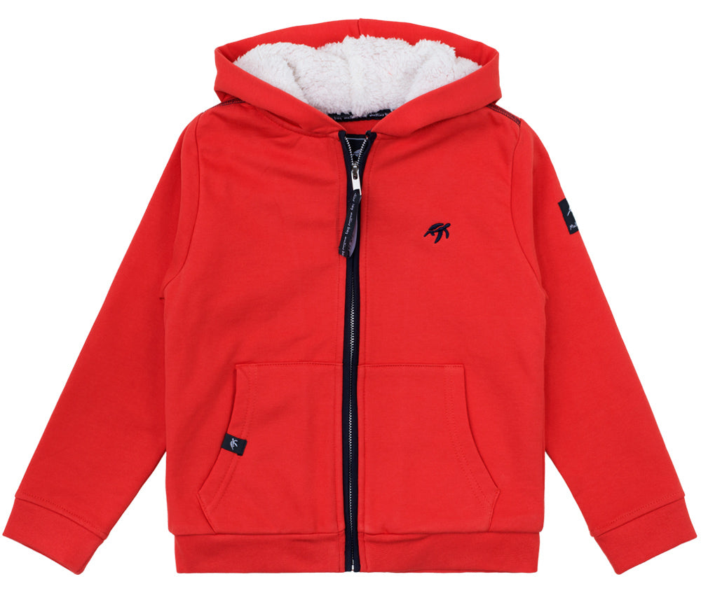 Childrens Boatyard Full Zip Hood Spicy Red