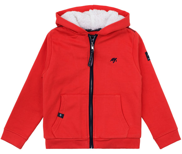 Childrens Boatyard  Full Zip Hood - Spicy Red
