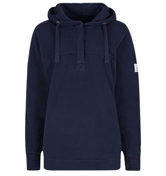 Lazy Jacks Ladies Pique Hooded Sweatshirt - Marine