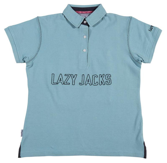 Lazy Jacks Childrens Pique Polo Shirt - Aqua
