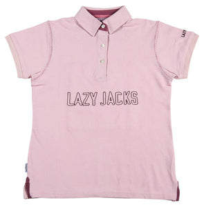Lazy Jacks Childrens Pique Polo Shirt - Pink