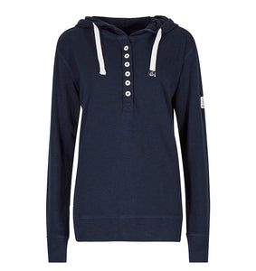 Lazy Jacks Ladies lightweight Hooded Top - Marine