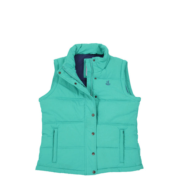 Lazy Jacks Ladies Padded Gilet - Sea Green