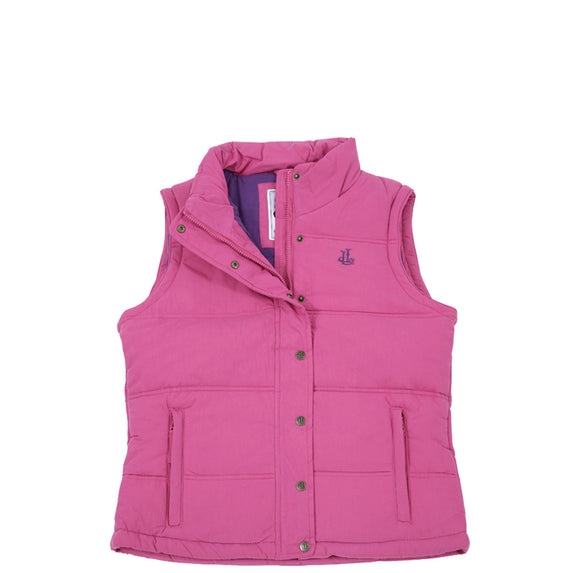 Lazy Jacks Ladies Padded Gilet - Raspberry