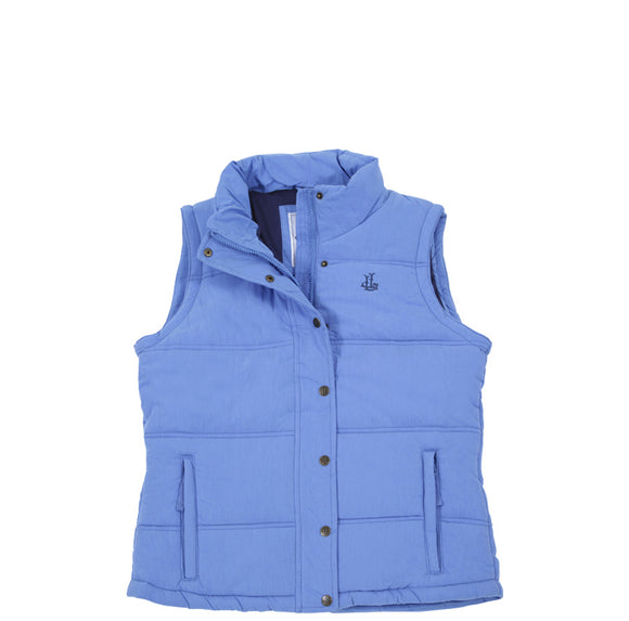 Lazy Jacks Ladies Padded Gilet - Denim