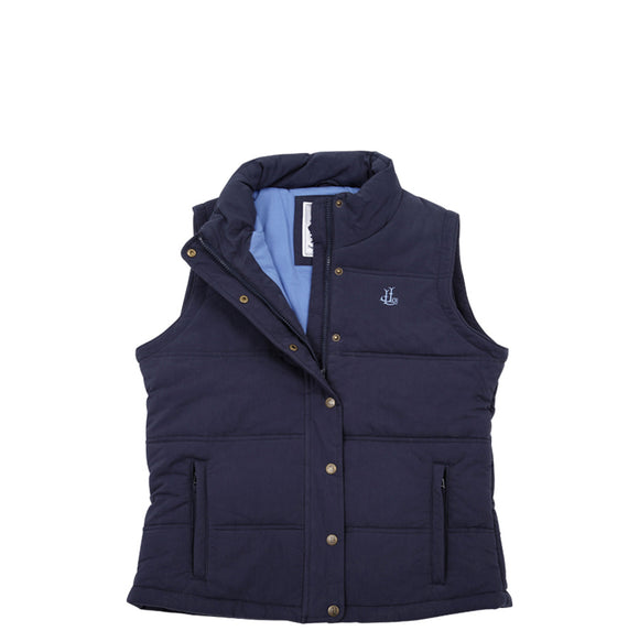 Lazy Jacks Ladies Padded Gilet - Navy