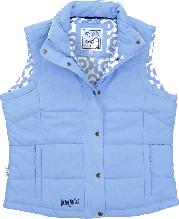 Lazy Jacks Ladies Padded Gilet - Azure