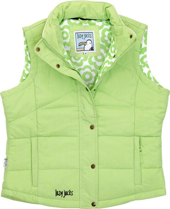 Lazy Jacks Ladies Padded Gilet - Lime
