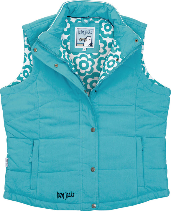 Lazy Jacks Ladies Padded Gilet - Teal