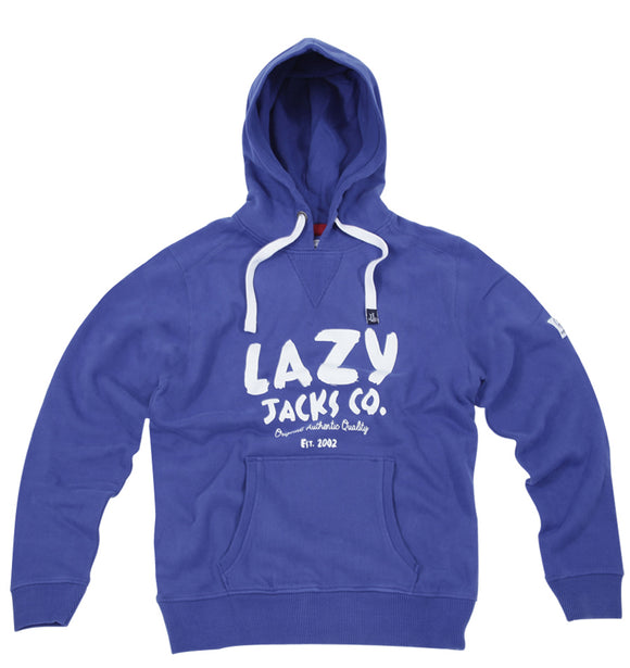 Lazy Jacks Hooded Printed Sweatshirt - Royal Blue