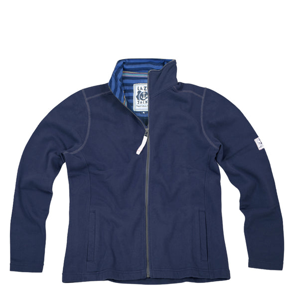 Lazy Jacks Supersoft Full Zip Sweatshirt - Marine