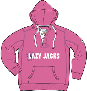Lazy Jacks Childrens Hooded Printed Sweatshirt - Fuschia