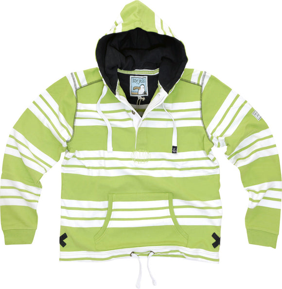 Lazy Jacks Hooded Stripe Sweatshirt - Lime
