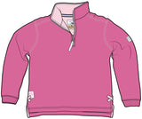 Lazy Jacks Childrens Quarter Zip Sweatshirt Printed - Fuschia
