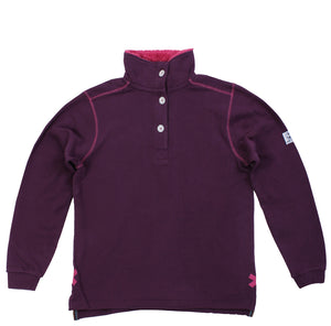 Lazy Jacks Plain Sweatshirt with Fleece Lined Collar - Blackberry
