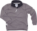 Lazy Jacks Quarter Zip Plain Sweatshirt - Slate