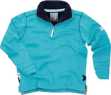 Lazy Jacks Quarter Zip Printed Sweatshirt - Teal