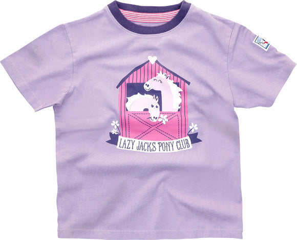 Lazy Jacks Childrens Short Sleeve Printed T-Shirt - Lilac
