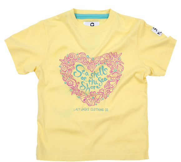 Lazy Jacks Childrens Short Sleeve Printed T-Shirt - Lemon