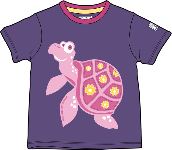 Lazy Jacks Childrens Short Sleeve Printed T-Shirt - Purple