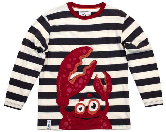 Lazy Jacks Childrens Long Sleeve Striped T-Shirt - Navy