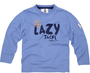 Lazy Jacks Childrens Long Sleeve Printed T-Shirt - Denim
