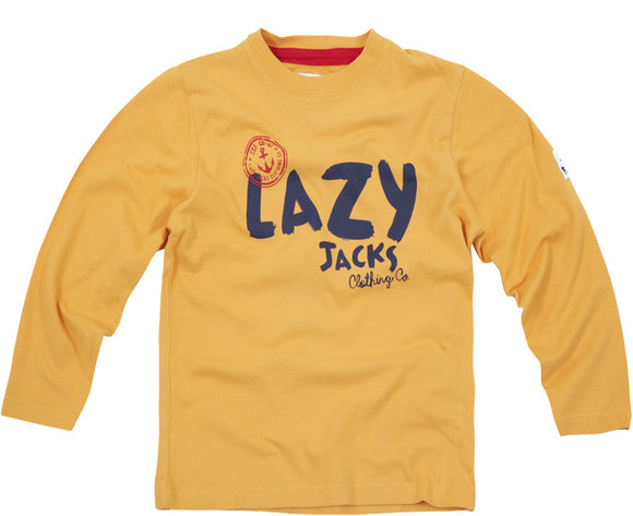 Lazy Jacks Childrens Long Sleeve Printed T-Shirt - Yellow
