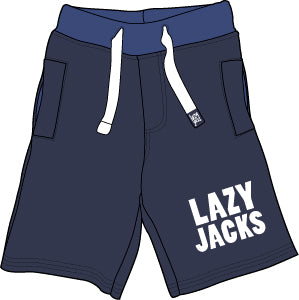 Lazy Jacks Childrens Supersoft Sweat shorts - Navy