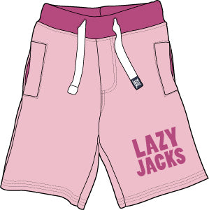 Lazy Jacks Childrens Supersoft Sweat shorts - Pink