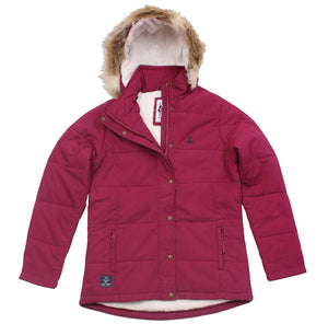 Lazy Jacks Fleece Lined Puffa jacket  - Claret