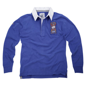 Lazy Jacks Mens Long Sleeve Rugby Shirt - Royal