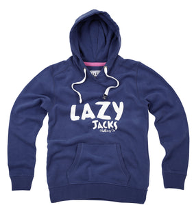 Lazy Jacks Ladies Supersoft Printed Hooded Sweatshirt - Twilight