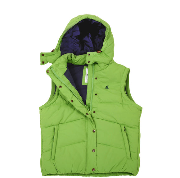 Lazy Jacks Ladies Padded Gilet with Detachable Hood  - Apple