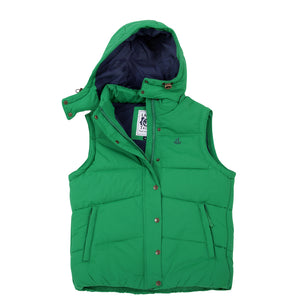 Lazy Jacks Ladies Padded Gilet with Detachable Hood  - Emerald