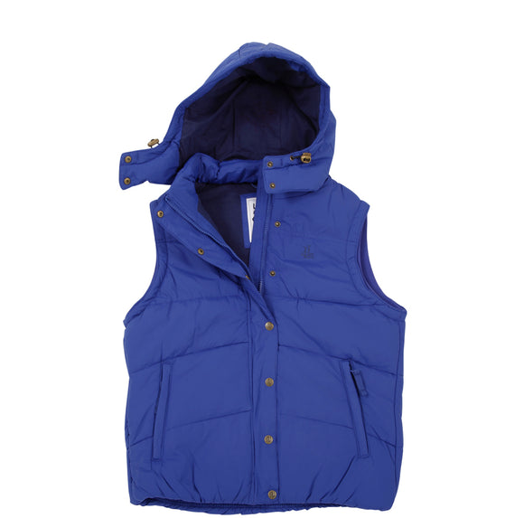 Lazy Jacks Ladies Padded Gilet with Detachable Hood  - Royal
