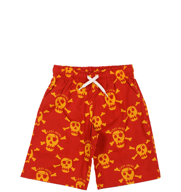 Lazy Jacks Boys Board shorts - Red