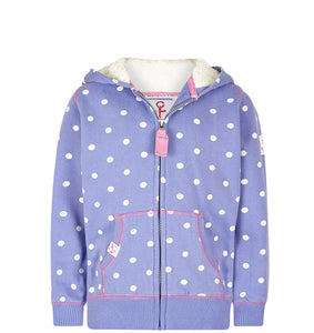 Lazy Jacks Childrens Hooded Full Zip Sweatshirt - Bluebell
