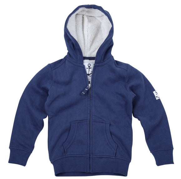 Lazy Jacks Childrens Hooded Full Zip Sweatshirt - Twilight