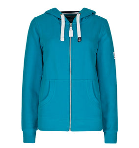 Lazy Jacks Ladies Full Zip Hooded Sweatshirt - Kingfisher