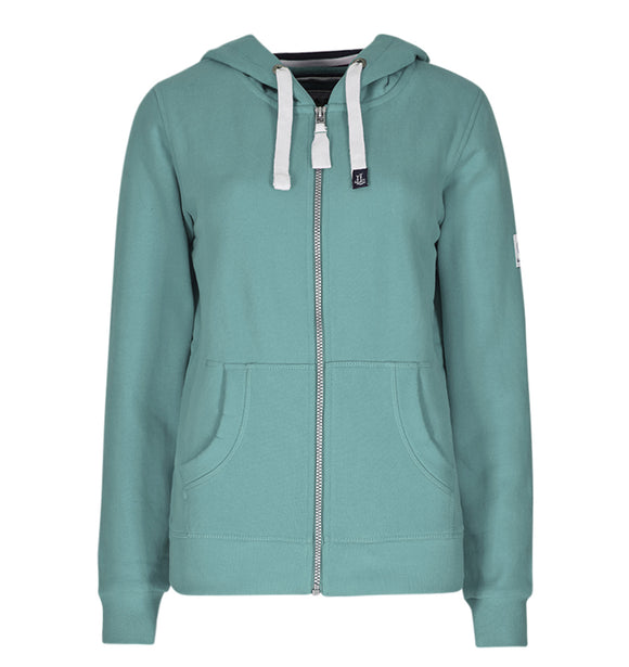 Lazy Jacks Ladies Full Zip Hooded Sweatshirt - Sea Spary