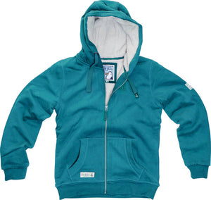 Lazy Jacks Ladies Full Zip Fleece Lined Hooded Sweatshirt - Ocean