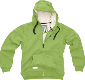 Lazy Jacks Ladies Full Zip Fleece Lined Hooded Sweatshirt - Apple